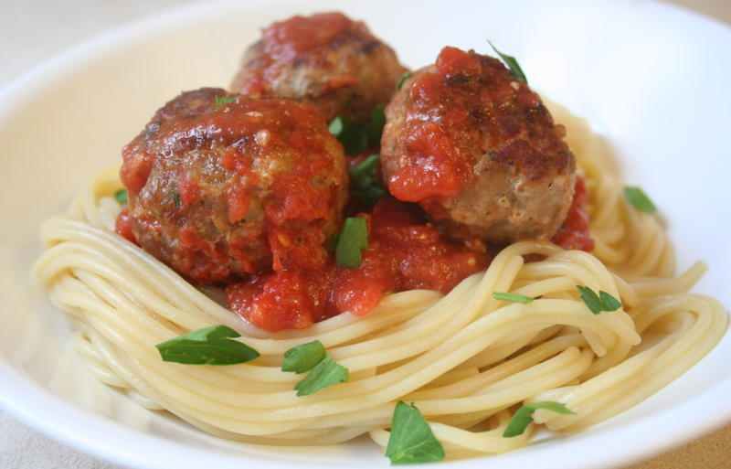 What Did You Eat?: PPN: Spaghetti With Turkey Meatballs ...