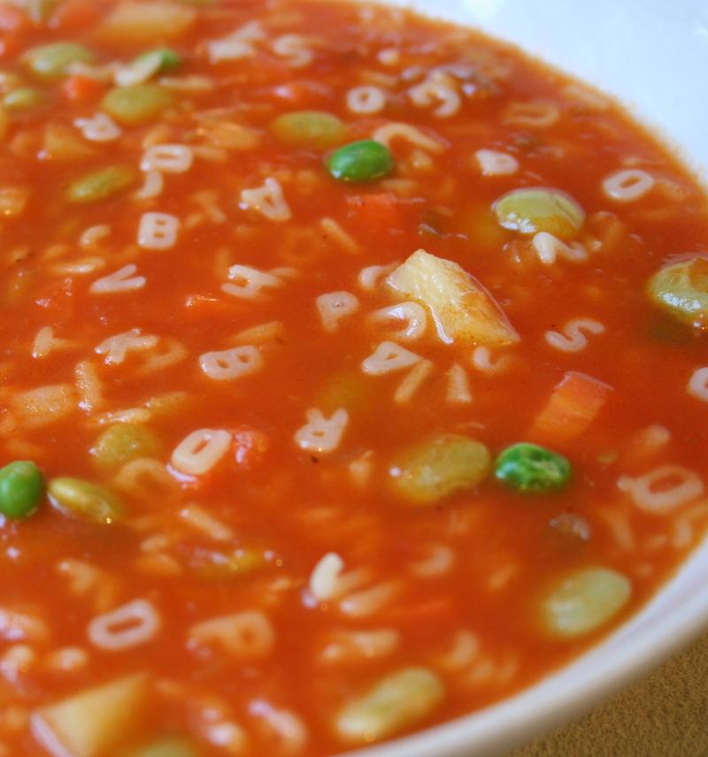 What Did You Eat?: PPN: Alphabet Soup