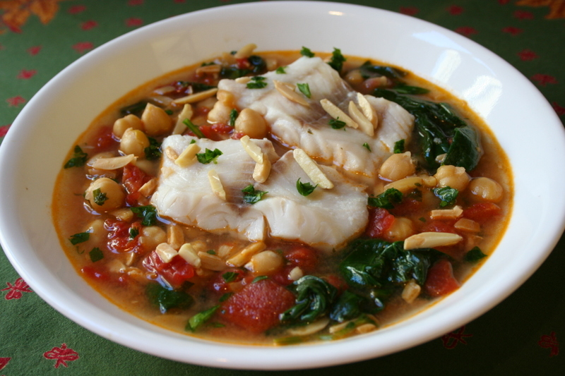 What did you eat whb spanish cod soup with spinach for Fish soup cod