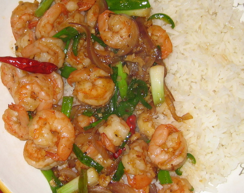 What Did You Eat?: Spicy Lemongrass Shrimp